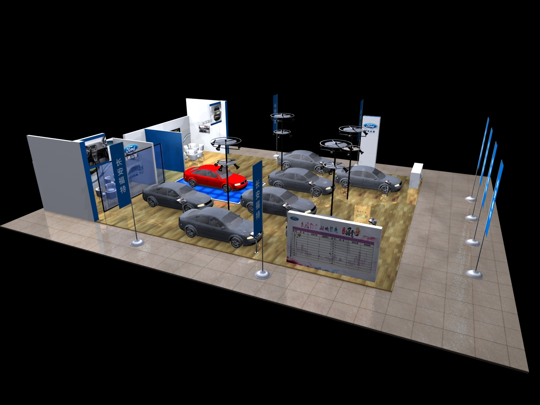 福特汽车展厅设计3d模型下载