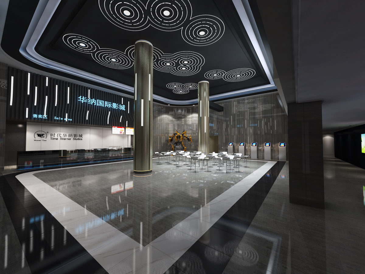 电影院大厅3D模型下载-图1