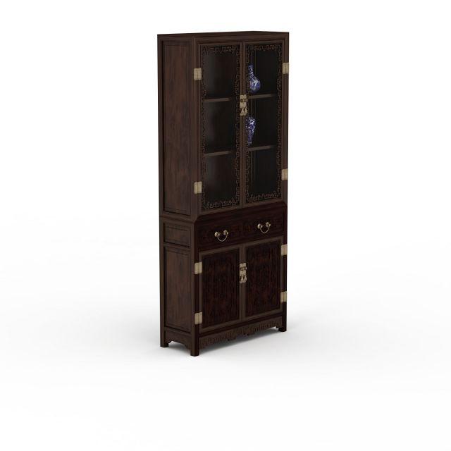 3dmax模型(3dmax模型下载)  家具模型(家具3dmax模型)  中式复古柜子