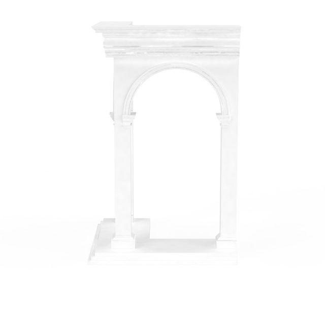 欧式门洞石膏构件3d模型下载