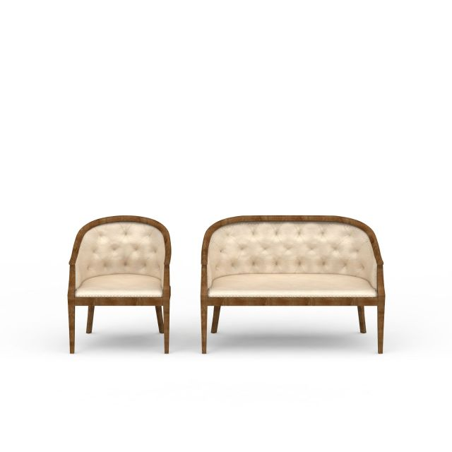 弧形靠背沙发3d模型下载 - 弧形素材,模型下载 - 土木