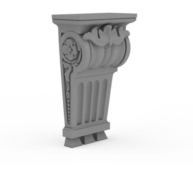 欧式柱头3d模型下载