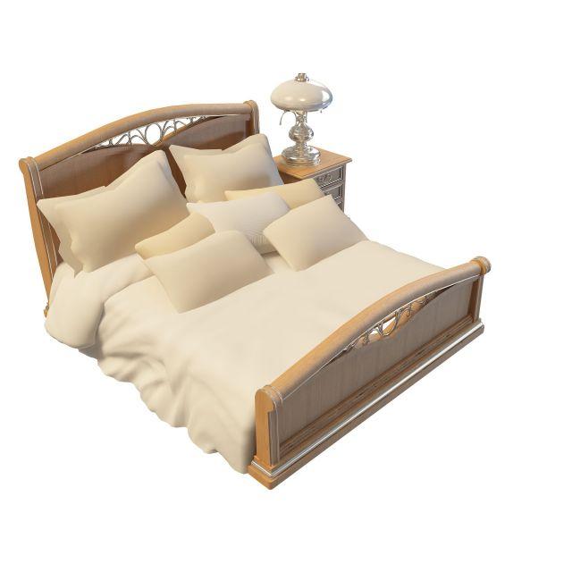 模型 3dmax模型(3dmax模型下载)  家具模型(家具3dmax模型)  实木床3d