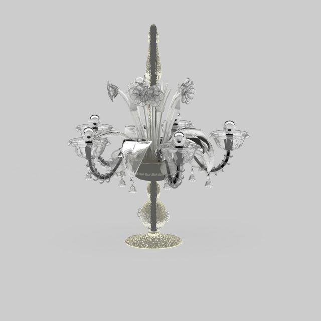 欧式水晶灯3d模型下载-图3