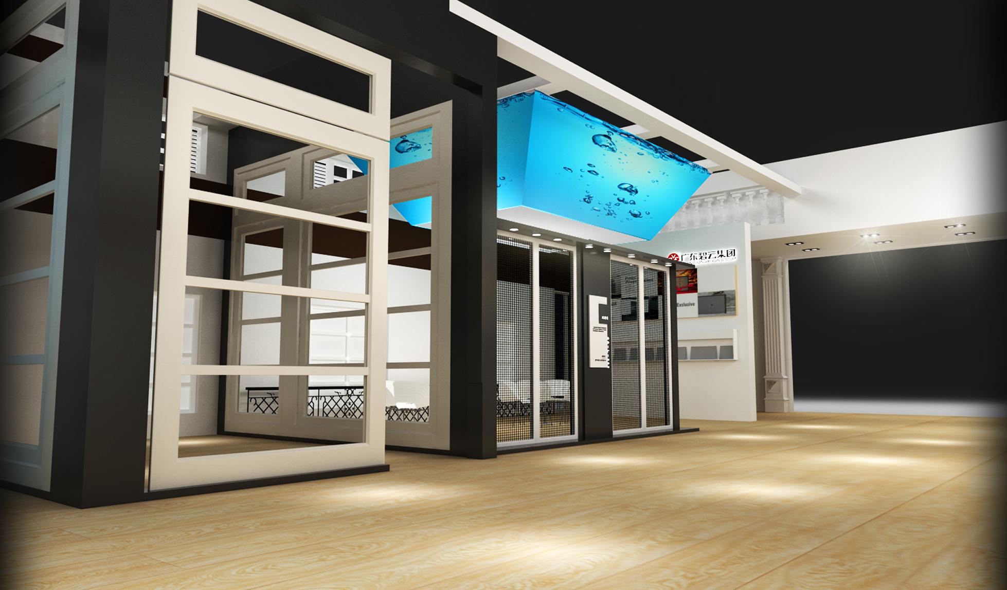 欧式风格展台门窗展3d模型下载-图2