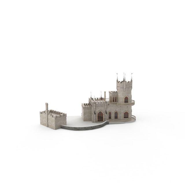 欧式城堡3d模型下载-图2