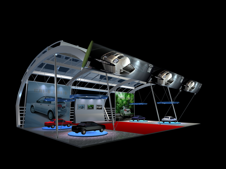 某汽车展厅cad+max+效果图