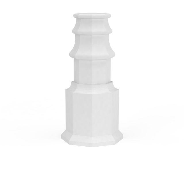 柱子石膏构件3d模型下载-图3