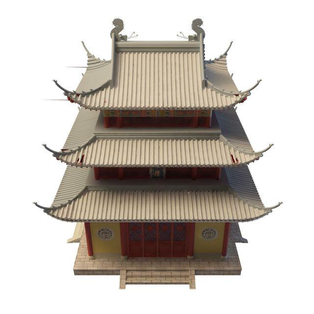古建塔楼3d模型下载-图2
