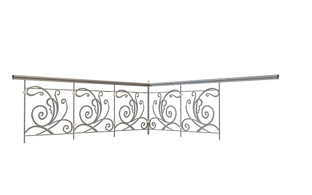欧式拐角栏杆3d模型下载