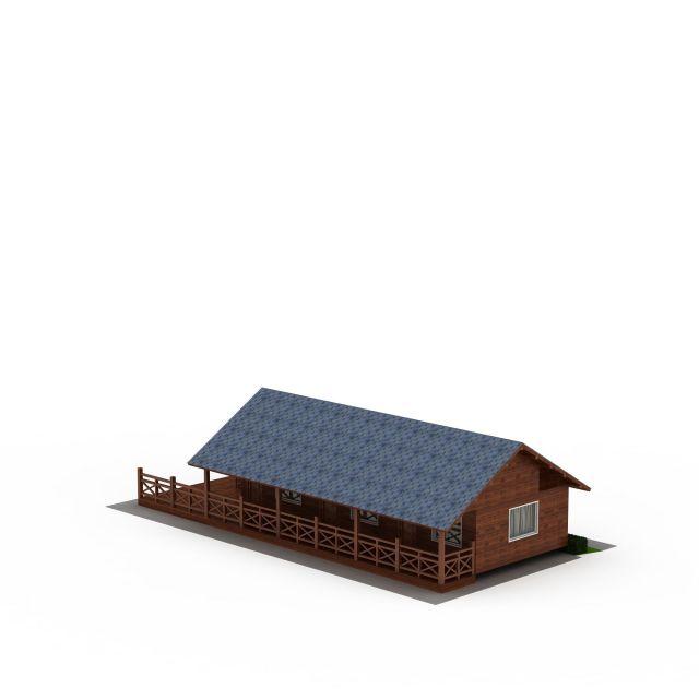 度假村木屋3D模型下载-图1
