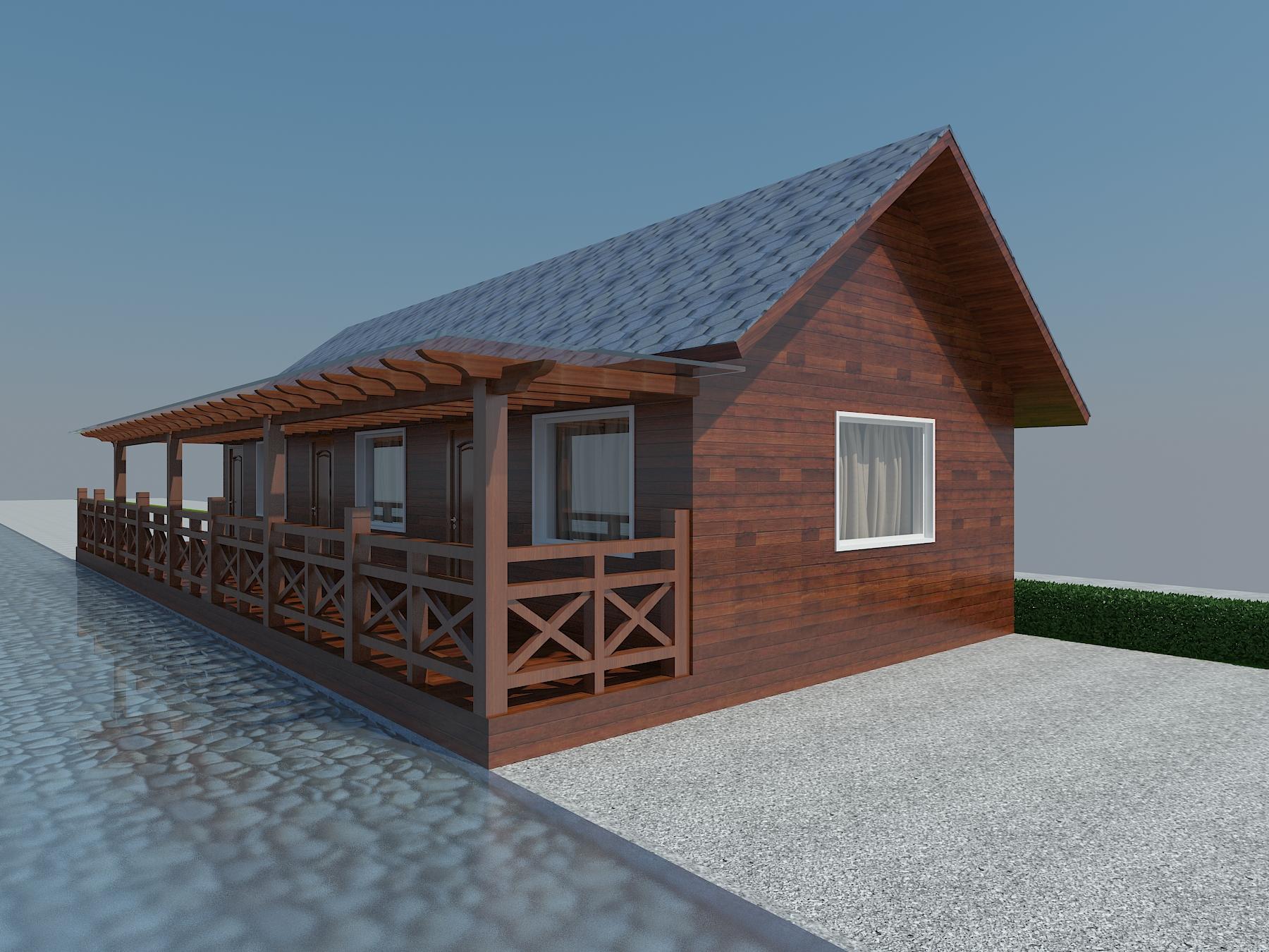 度假村木屋3D模型下载-图3