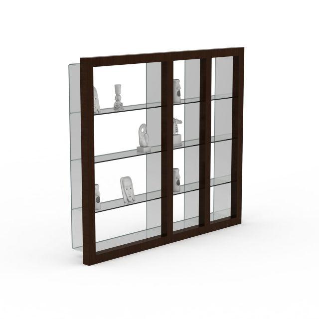 客厅展示柜3d模型下载 - 展示柜素材,模型下载 - 土木
