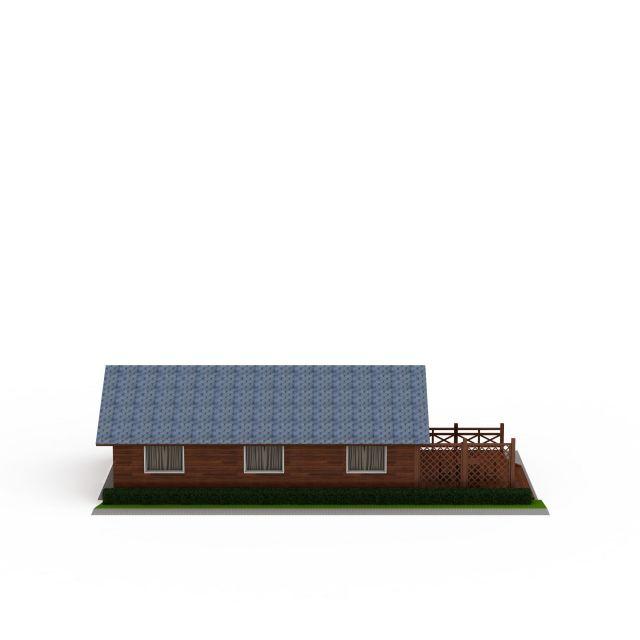 度假村木屋3D模型下载-图2