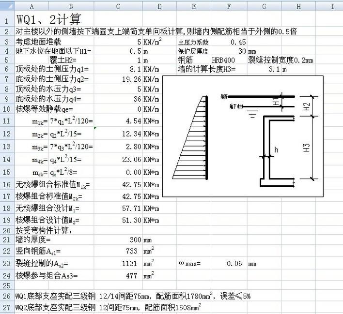地下室外墙计算_co土木在线(原网易土木在线)