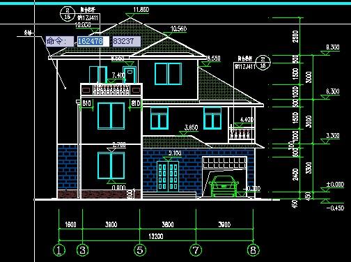 别墅建筑和结构图纸