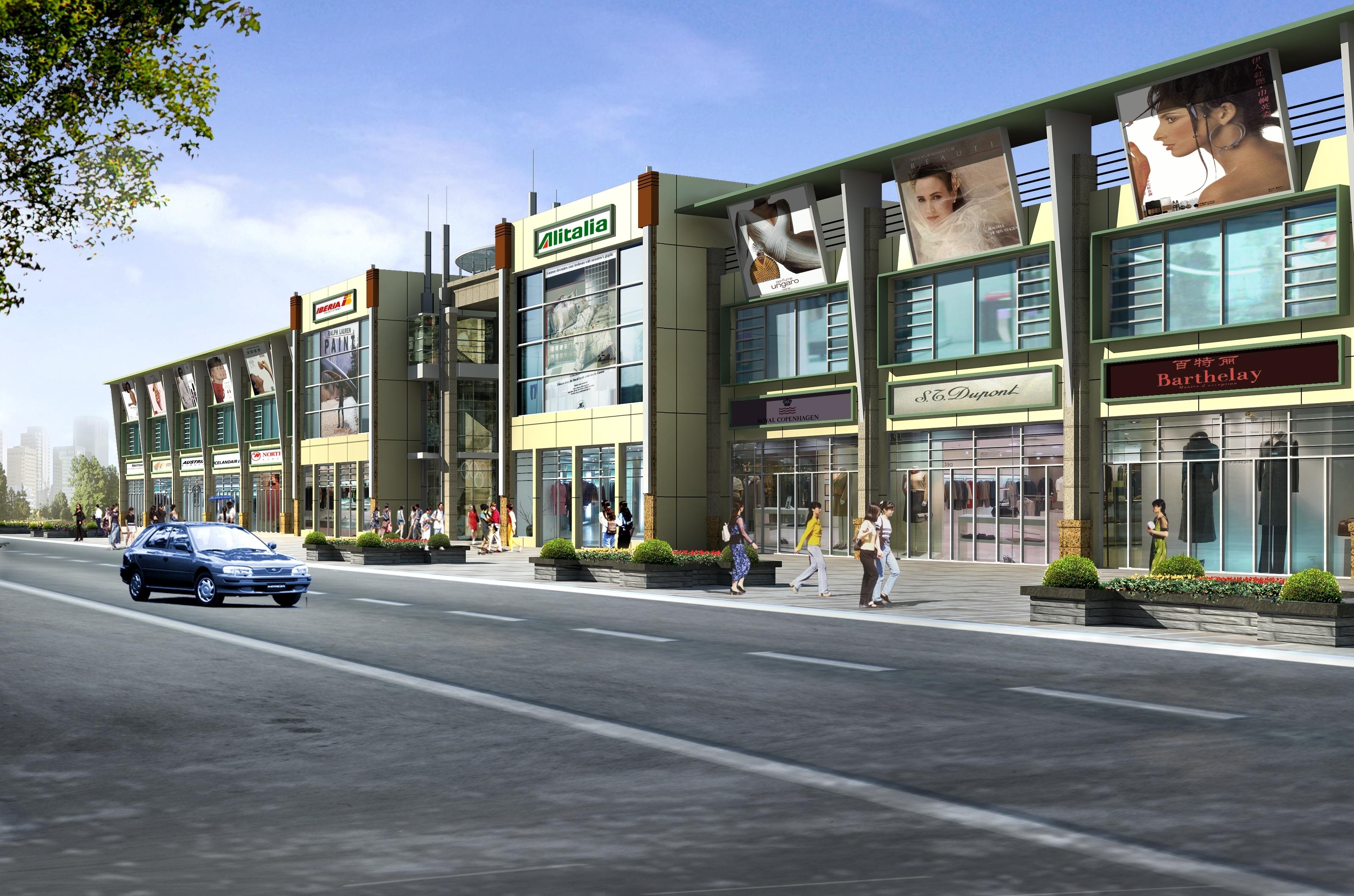 2层的商业建筑 高清图片