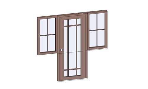 门联窗-木质单扇平开003