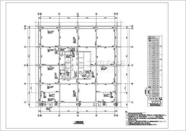地上6层框架结构公寓住宅楼结构设计图