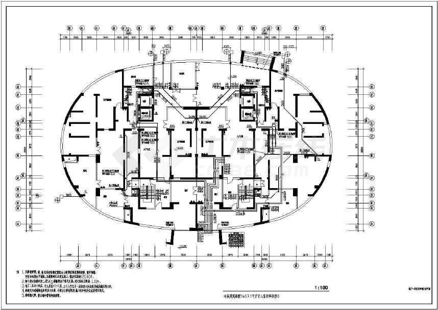 某超高层住宅楼给排水设计施工图纸