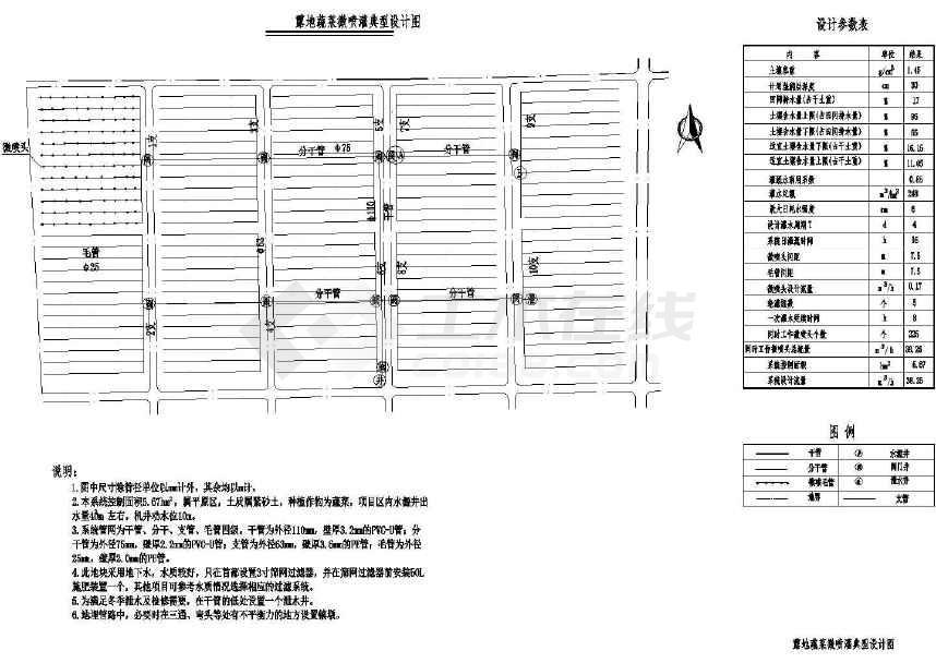 典型图纸微设计蔬菜cad喷灌露地下载autocad2013++序列号图片