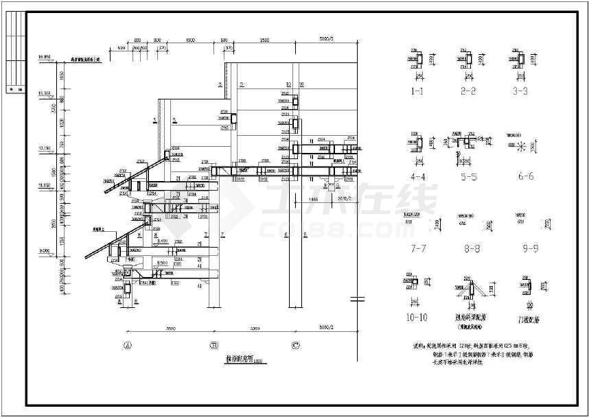 中式戏台,祠堂古建筑结构设计施工图纸
