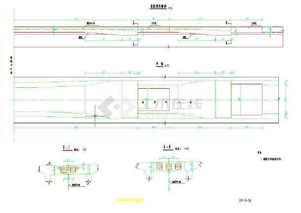 一级公路25米钢管下承式别墅拱桥施工图v公路玛利亚模型cad箱梁图片