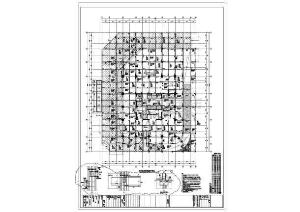 结构设计施工图 框筒结构施工图 办公楼 31层框架核心筒结构酒店商务