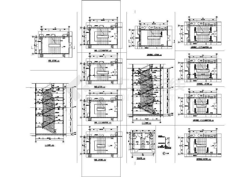学校五层欧式综合楼建筑施工图,图纸内容包括:工程设计说明,一层平面