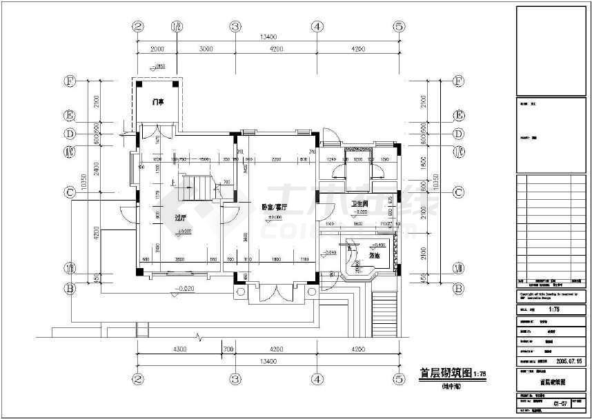落地窗立面图施工图_平面设计图