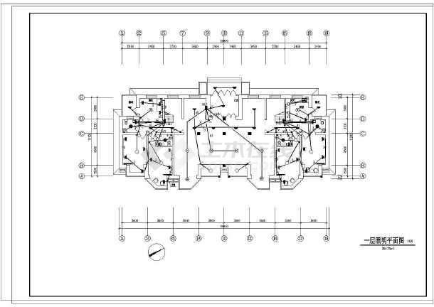某电气住宅楼图纸v电气教工(12张)下载图纸木头图片