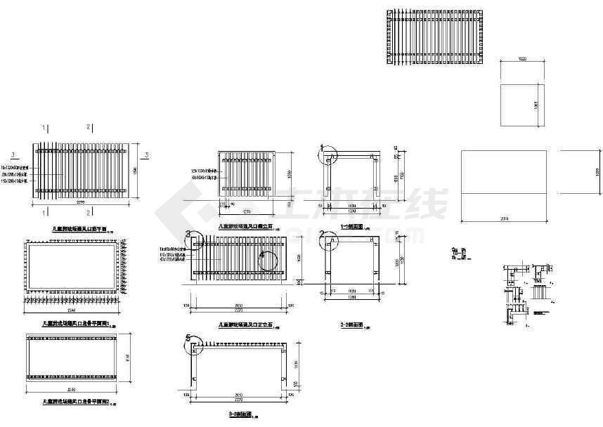 花园景观设计  本资料为挡土景墙景观设计图,图纸内容包括玉树园剖面