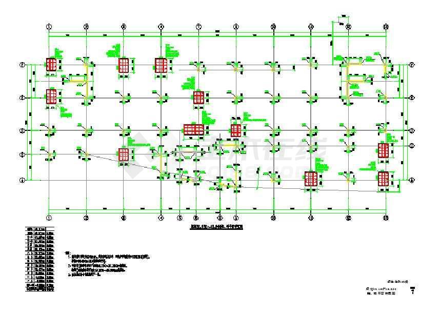 12层框架剪力墙结构住院大楼结构施工图(桩基础)