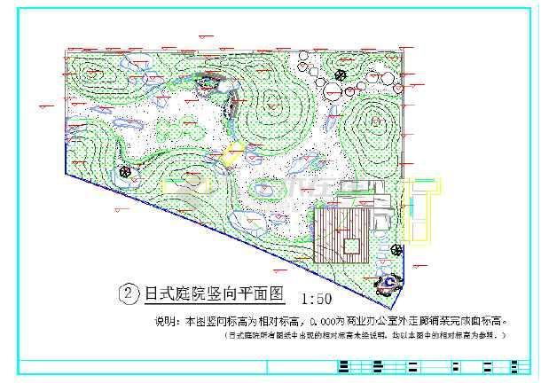 挡边大样图,青石挡墙施工图,日式庭院施工图,小石拱桥施工图,圆石汀步