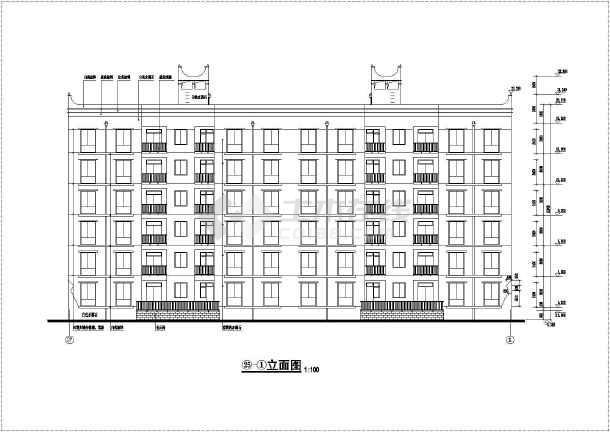 某六层砖混结构住宅楼建筑设计施工图纸