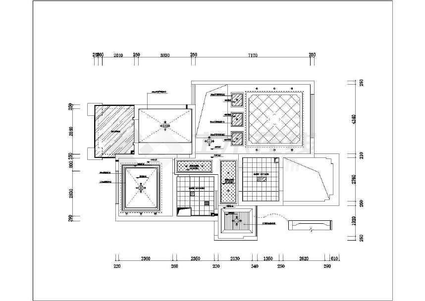 设计图(含效果图),图纸包括:原始尺寸图,拆除墙体图,新建墙体图,水泥