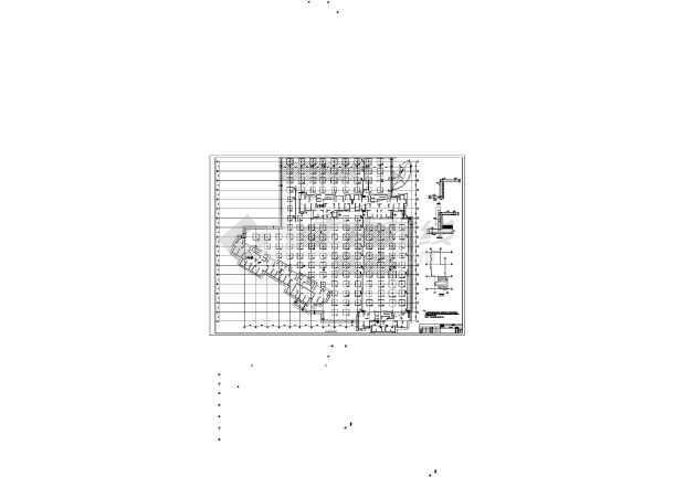 地下一层框架结构汽车车库结构设计施工图