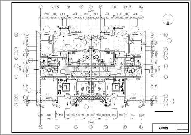 某两层双拼别墅建筑结构设计施工图_cad图纸下载-土木