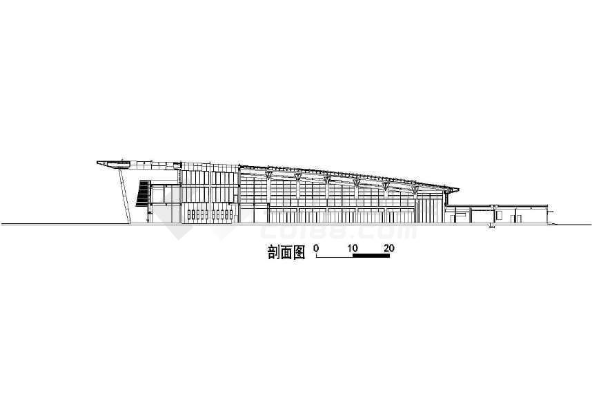 【广东】某汽车客运站方案设计图(含效果图)