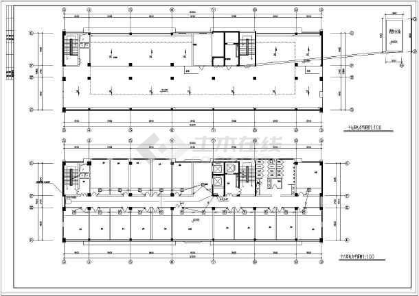 屋面防雷平面图,干线系统图