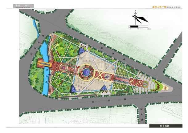 本资料为:【漳州】人民广场景观规划设计(jpg格式),内容包括:总平面