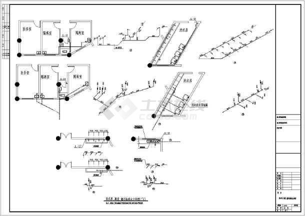 某地4层教学楼建筑给排水设计施工图纸