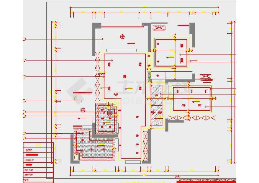 时尚小户型住宅室内装修设计施工图 含效果图高清图片