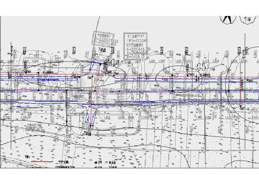 某新建市政道路给水工程设计施工图