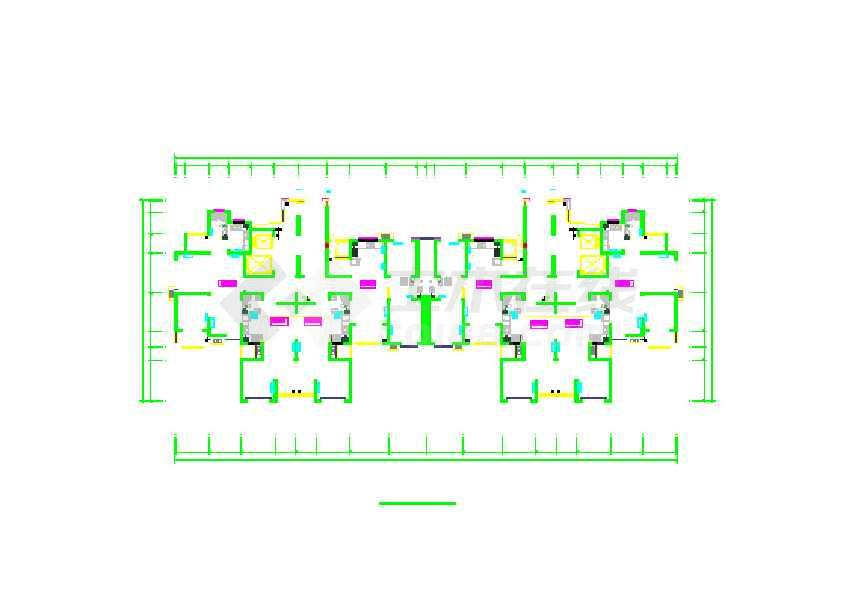 【青岛】高层住宅暖气片采暖设计施工图