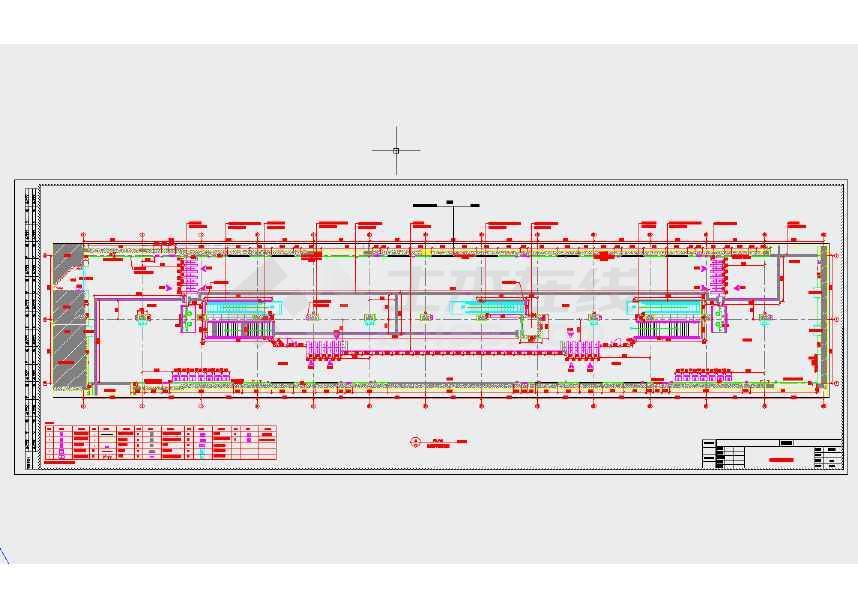 本图纸为地下两层岛式车站站厅站台施工图设计,包含站厅及站台的平面图、立面图等,并含车站的装修设计,图纸细节丰富。  本车站为两条地铁线路的换乘车站,为平坡站。车站位于城市道路与高架桥及铁路交界处,由于受前后区间控制,车站长度受控,为地下两层岛式车站,地下一层设备用房侧向外挂。车站总建筑面积为9893.
