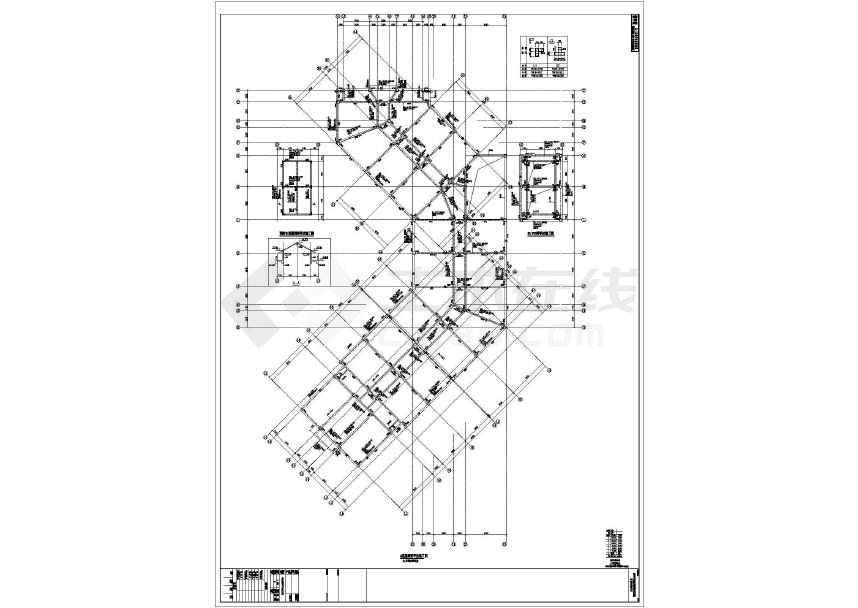 度假区钢混框架酒店结构施工图(含钢结构施工图)