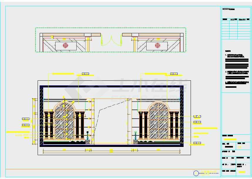 豪华高档KTV室内设计CAD施工图下载 土木在线