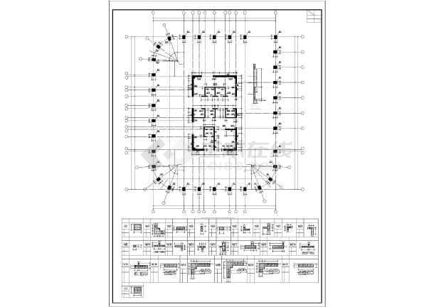 结构设计施工图 框筒结构施工图 公寓宿舍 23层筒中筒结构公寓楼结构