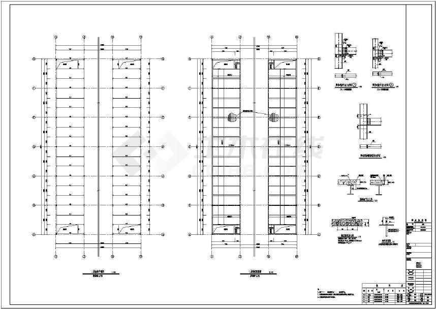 二层门式钢架结构能源再生公司厂房结构建筑施工图